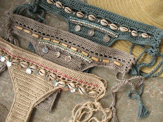 Bikini bottom with tassels - MarryG Swimwear