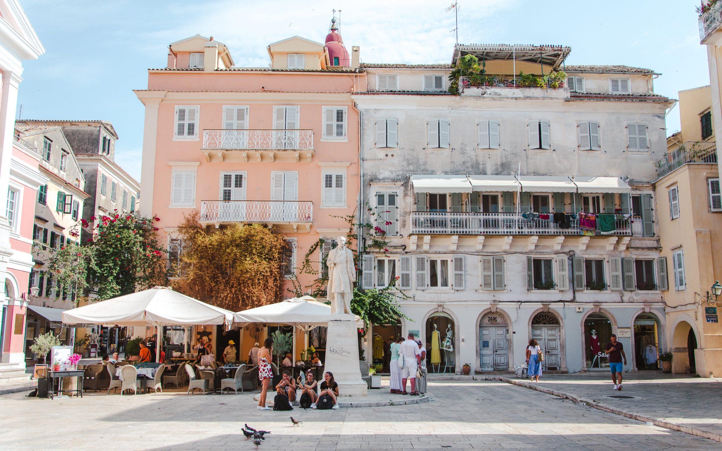 Pretty square in Corfu Town