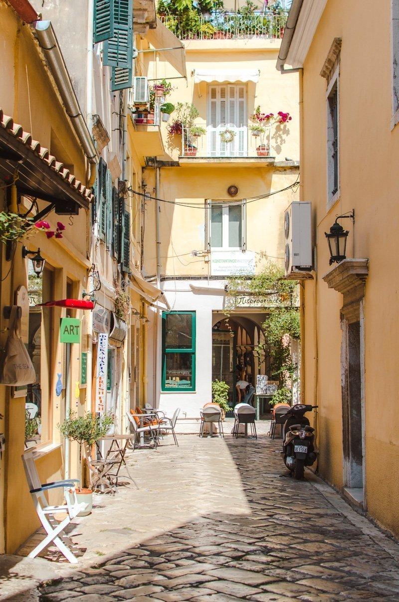Rue à Corfou