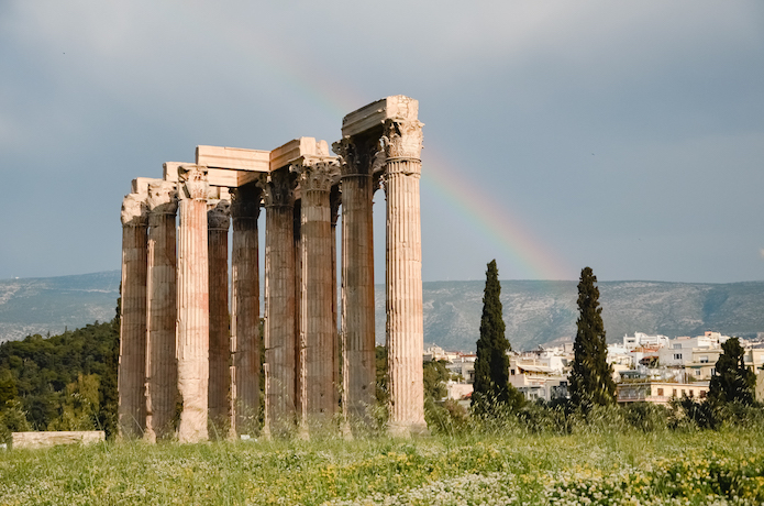 the Olympieion - Temple of Zeus - Athens historical sites and Landmarks