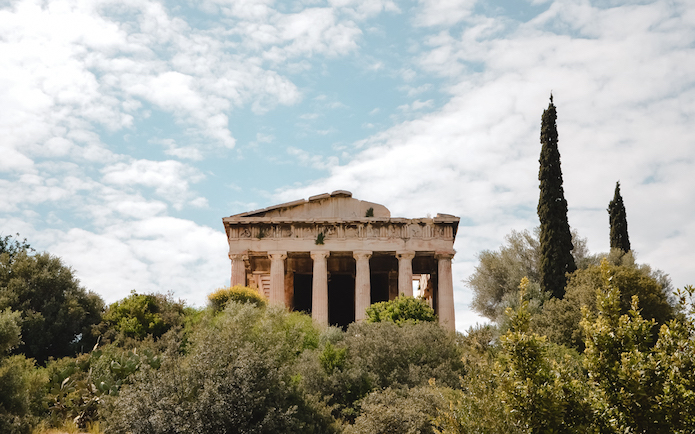 the Temple of Hephaestus - Athens historical monuments