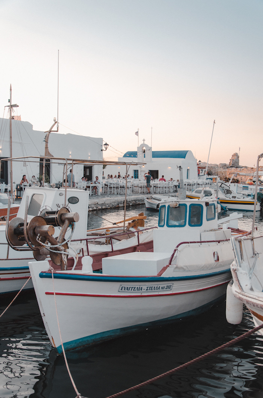 Naoussa's traditional harbour