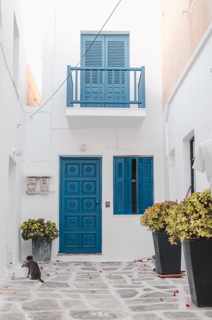 Rue à Naoussa, Paros