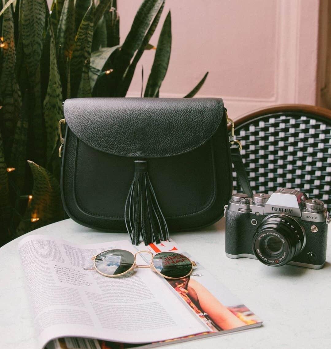 Lola Noir Gatta sac appareil photo femme