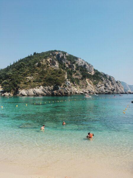 Paleokastritsa Beach: Agios Spiridonas