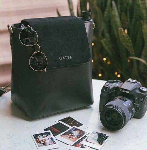 Christie Noir sac a dos appareil photo femme