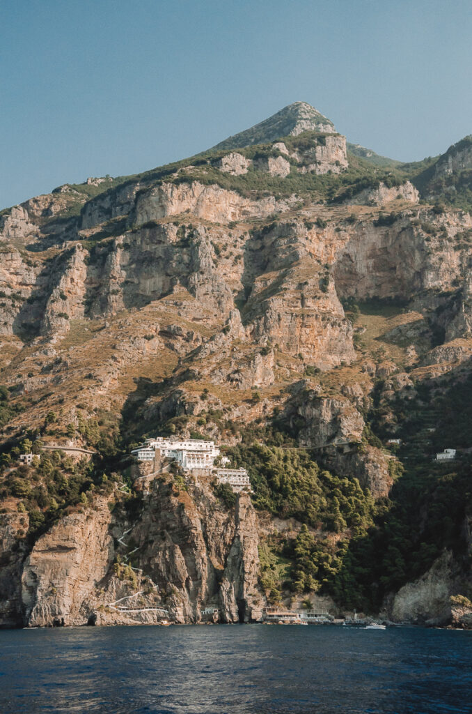 Vue sur la côte amalfitaine