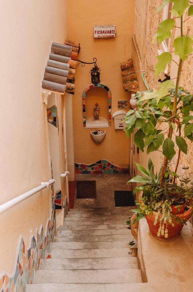 House entrance in Positano
