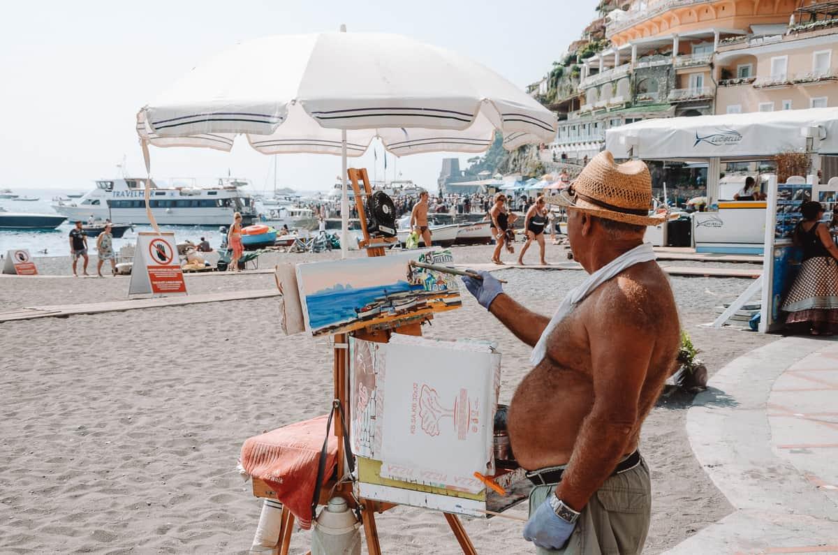 Peintre à Positano
