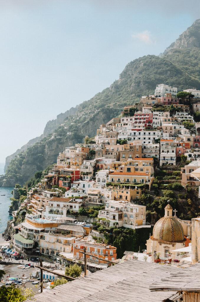 Vue célèbre de Positano en Italie