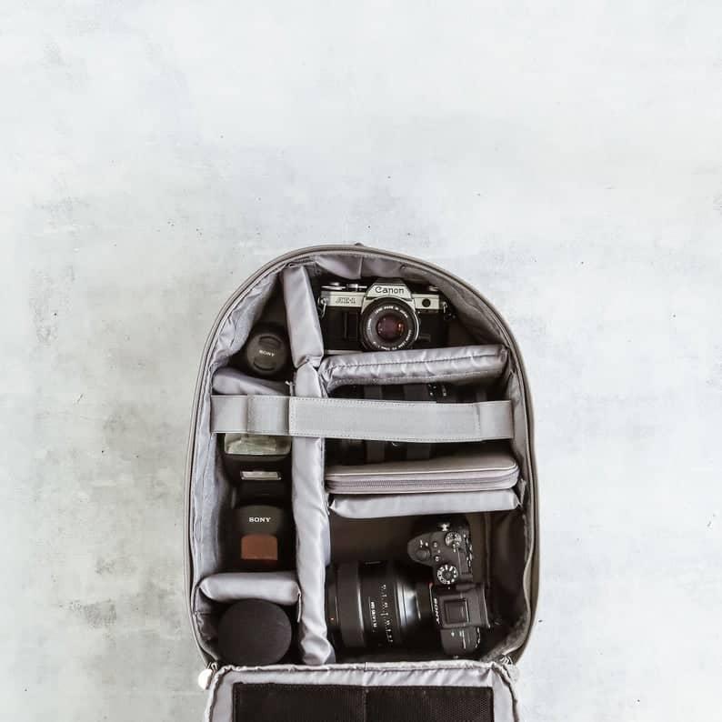 Tof bag camera backpack for women