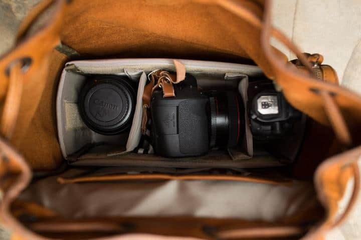 The Kelly camera backpack for women