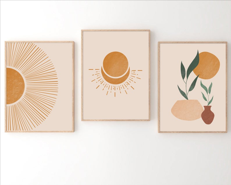 Boho sun wall art