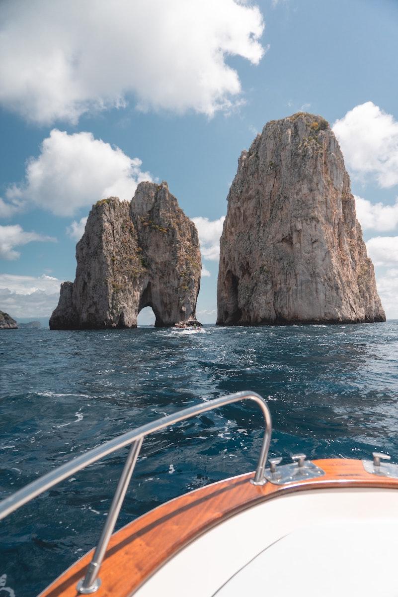 Rocher à Capri, Côte Amalfitaine