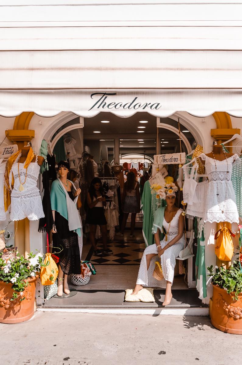 boutique à Positano