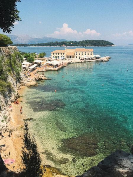 Faliraki beach, Corfu Town