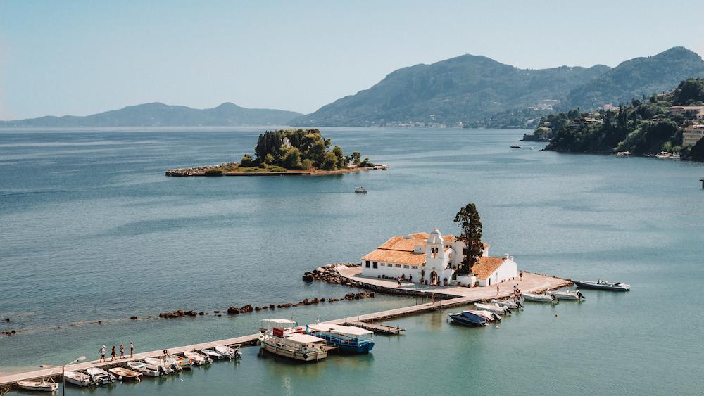 Things to do in Corfu: Vlacherna Monastery & Pontikonisi