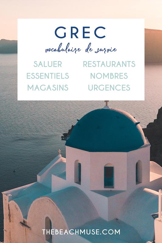 Guide de grec vocabulaire de survie en voyage
