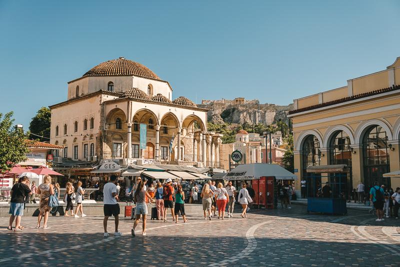 Monastiraki - what not to do in Athens Greece
