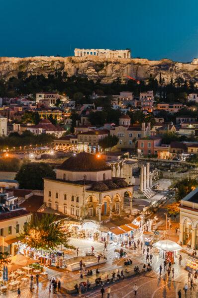 Vue sur Monastiraki depuis A for Athens