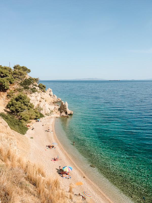 Belles plages Athènes