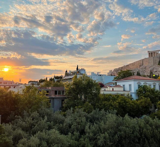 Vue depuis le Musée de l'Acropole