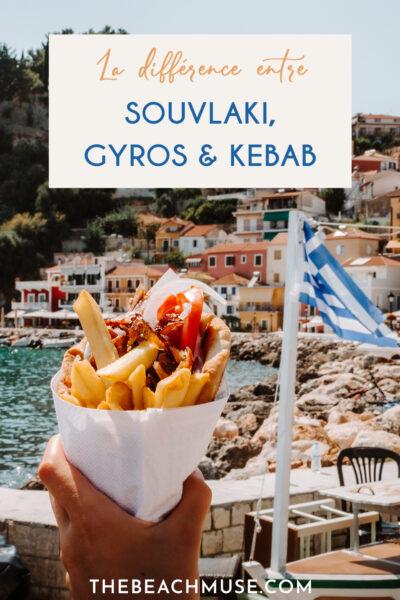 Différence entre souvlaki, gyros et kebab